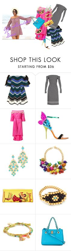 """Off Shoulder Dress..**"" by yagna ❤ liked on Polyvore featuring Fendi, Preen, Peter Pilotto, Sophia Webster, Gas Bijoux, Mercedes Salazar, Charlotte Olympia, Dodo Bar Or, Venessa Arizaga and Vichy"