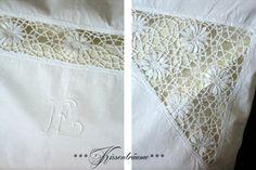 Leinen  Kissenbezug -Paradekissen- von White Roses auf DaWanda.com