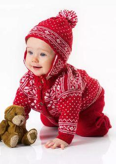 Klikk for å forstørre – Oppskrifters Norwegian Knitting, Knit Crochet, Crochet Hats, Baby Barn, A 17, Knitting Needles, Popular Pins, Mittens, Knitwear