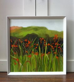 ARTFINDER: WILD CROCOSMIA by Jane  Kell - One of a series of paintings inspired by a trip to Cornwall and walks along the coast near Trebarwith Strand.