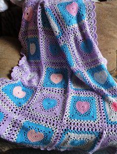 Baby Heart Blanket.