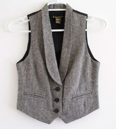 Forever-21-Wool-Blend-Suit-Vest-Fully-Lined-Adjuster-strap-Size-Small