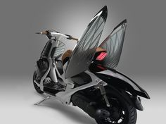 yamaha's 04GEN experiments with semi-transparent paneling shaped like swan wings