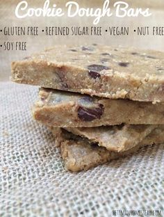 Satisfy your sweet tooth with these Easy to make Guilt-Free Desserts! I've rounded up some glorious healthy treats from other pinners, plus a couple of my own. Enjoy these gluten-free options! No Bake Cookie Dough, Cookie Dough Recipes, Edible Cookie Dough, Clean Eating Cookies, Clean Eating Desserts, Vegan Desserts, Healthier Desserts, Paleo Dessert, Dessert Recipes