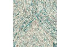 Ansel Rug, Sea Blue/Ivory