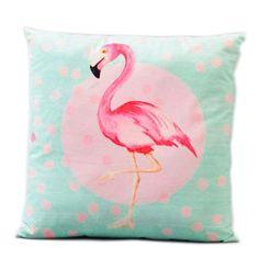 Kissen Flamingo 45x45cm türkis-pink