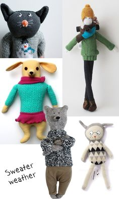 soft toys with sweater