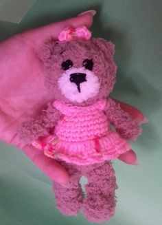 Teddy Crochet Bear Amigurumi  Handmade Crochet Amigurumi Toy Doll  Bear Mini #Milevknitting