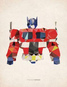 Polygon Heroes - Optimus Prime