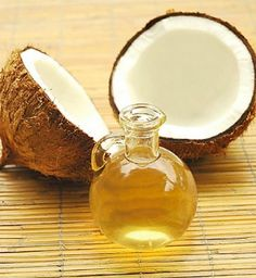 Coconut Oil and Vitamin E Hair Mask Fight frizz with a mix of unscented coconut oil and pure vitamin E oil. Ideally, warm the oil so it more readily penetrates your hair and leave it on for 40 minutes before washing it out.