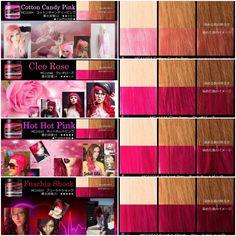 My Favorite pinks from Manic Panic (Pics from manic-panic.jp)