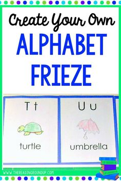 Yes, premade classroom resources are SUPER cute but they aren't as effective as student created resources. Increase student motivation and engagement by having THEM create your alphabet frieze. Chances are they'll refer to it more often than a premade one.