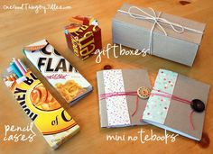 Wow! Recycling those cereal boxes has never been this fun, right? #upcycle http://www.onegoodthingbyjillee.com/2012/09/simple-and-creative-ideas-for-recycling-cereal-boxes.html