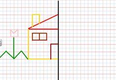 Aquí os envío dibujos con eje de simetría para aquellos que quieran practicar en casa.