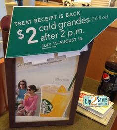 STARBUCKS $$ Reminder: Treat Receipt is Back – Ends SUNDAY (8/18)!