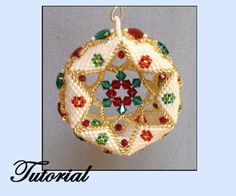 Star Within / Crystal Coin Edge Beaded Ornament Pattern   Bead-Patterns.com