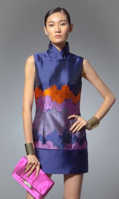 Contemporary qipao inspired top from Shanghai Tang