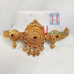 1 Gram Bridal Choker cum Bajuband 1 Gram Gold Jewellery, Temple Jewellery, Bridal Jewellery, Gold Jewelry, Hindu Art, Necklace Set, Chokers, Bangles, Pendants