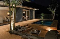 Modern wooden deck... 1 of the 10 Best Decks & Patios we could find. Worth saving for creative ideas/use later! via. @C ompact Power Equipment Rental #DIY #Deck #Patio