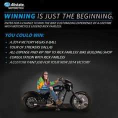 Allstate Motorcycle: Win a Customized Vegas 8-Ball Motorcycle!