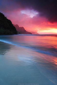 sunsets, sunris, natur, kauai hawaii, beauti, beach, place, kauai sunset, photographi