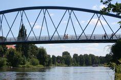 Die Wesertorbrücke in Nienburg