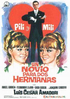1967 - Un novio para dos hermanas Hd Movies, Film Movie, Movies And Tv Shows, Foreign Movies, Movie Poster Art, Twin Sisters, Cinema, Romantic, People