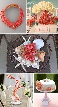 Coral And Gray Wedding Ideas | coral wedding ideas Coral Wedding Decor