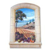 Stupell Home Decorative Faux Window Scene, Vineyard, 22 by 33-Inch