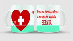 Caneca Farmacêutico é Servir | Lojinha Level One | Elo7