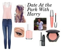"""Date At the Park With Harry"" by jazzybarrera on Polyvore featuring Lipsy, Frame Denim, LORAC, Essie, Clinique, H&M and Lancôme"