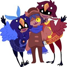 HAPPY FAMILY From left to right: Alula, Niko, and Calamus Birb People!! :D Once again from OneShot. I friggen love this game and I completed the game today. The ending has so many feels.
