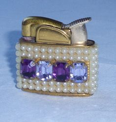 Darling Vintage Evans Lighter Bejewled Purple by ChevyLovesLaura, $40.00
