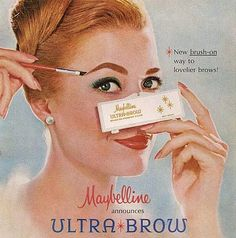 Maybelline Ultra-Brow Makeup Ad 1964