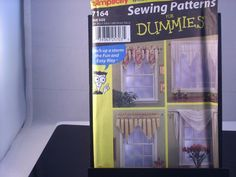SEWING PATTERN Window Toppers Curtain Valances for Dummies Simplicity 7164 #Simplicity