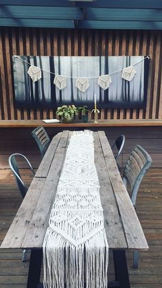 Macrame table runner by Lekker Project / buntings / flags / home deco / interior decoration / inspiration / wedding party ideas / bed throw / nursery