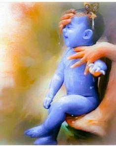 Jinke aane se sab khush ho jate h Mere Krishna Yashoda Krishna, Krishna Leela, Jai Shree Krishna, Radha Krishna Love, Krishna Radha, Krishna Statue, Durga Puja, Little Krishna, Cute Krishna