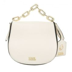 5a37c1d450307 Karl Lagerfeld Tasche – K Grainy Satchel Small Leather Créme – in gold