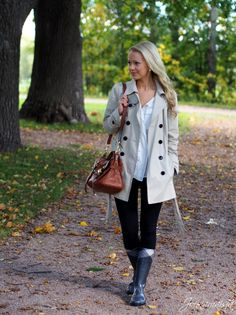 Fall Outfit with Wellies