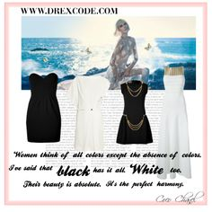 Black & White... their beauty is absolute #moschino #vionnet #Blumarine #blackandwhite #drexcode