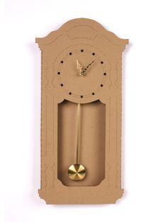 Cardboard Pendulum Clock by Amy Levinson Cardboard Recycling, Cardboard Box Crafts, Cardboard Design, Cardboard Toys, Cardboard Furniture, Diy Crafts Slime, Slime Craft, Rustic Log Furniture, Pendulum Clock