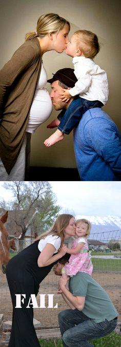 Family Maternity Photography Fail
