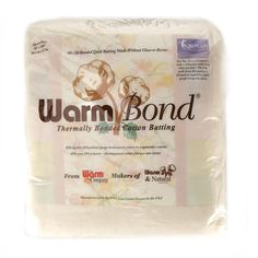 Warm Bond is the Warm Company's 80/20 ~ 80% Cotton & 20% Polyester. Instead of using the non-woven polypropylene scrim that we use in Warm & Natural or glue like other bonded batting use, our poly fiber is manufactured to melt when it is run through a gentle heating process known as calendaring. The polyester fibers slightly melt and web throughout the 100% natural cotton fibers holding them together to create a very soft, ultra light bonded batting. A first in the history of the Warm ...