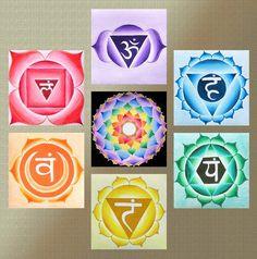 Yoga seven chakra mandala   Fine Art Signed Print by mandalamagic1, $114.00
