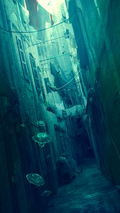 ...This city was drowned long ago. It is now under the ocean. How is it even possible for there still to be inteligent life? Do people still live there? It's not the fish. There is something bigger there...