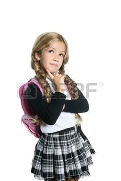 4d9029de53 little blond school girl with backpack bag portrait isolated on white background  Backpack Bags