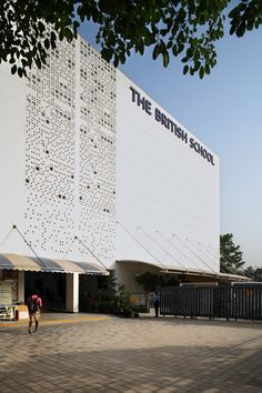 The British School by Morphogenesis | Schools Education Architecture, School Architecture, Architecture Design, Future School, School School, British Schools, Ground Floor Plan, Building Facade, Textures Patterns