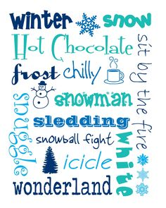 Winter Subway Art - Printable