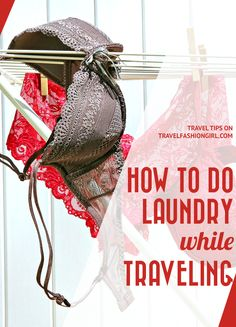 How to do Laundry while Traveling - 3 Options! Doing Laundry, Laundry Hacks, Travel Packing, Travel Tips, Travel Clothesline, Backpacking Food, Ultralight Backpacking, Handwashing Clothes, Hiking Tips