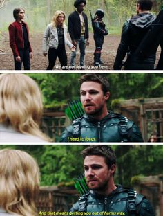 """""""We are not leaving you here"""" - Felicity, Oliver, Thea, Curtis and Slade #Arrow"""